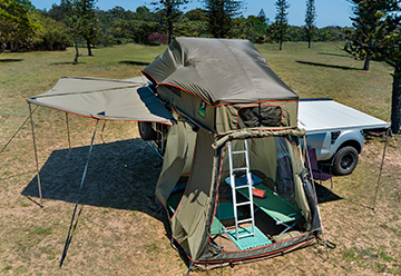 Howling Moon manufacturers Dome, Frame, Rooftop and Trailer tents.